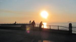 Sunrise over Santander Bay